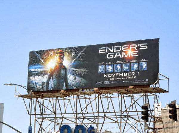 Enders Game film billboard