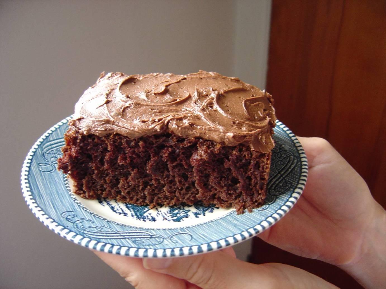 Sour Milk Chocolate Cake with Mocha-Fudge Icing