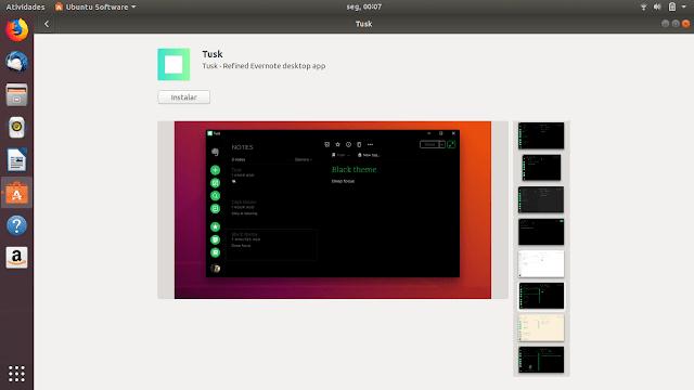 Cliente Evernote para Ubuntu Tusk