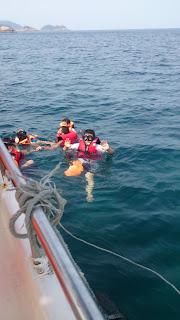 open sea snorkeling