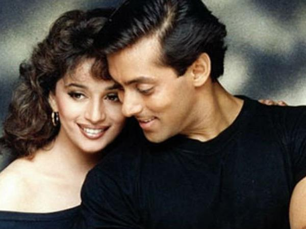 Salman and Madhuri Dixit