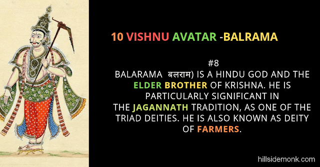 10 Vishnu Avatar In Hinduism-BALRAMA