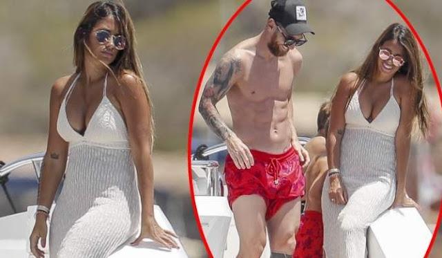 Antonela y Messi espléndidos en Ibiza