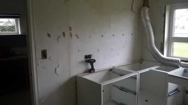 Oude keuken uitbreken