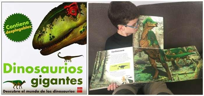 libro informativo conocimientos dinosaurios gigantes sm