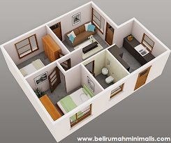 Rancangan Denah Rumah Minimalis 2 Kamar Beserta Contohnya