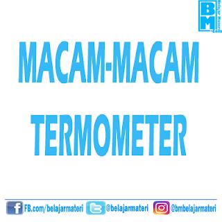 Macam - Macam Termometer