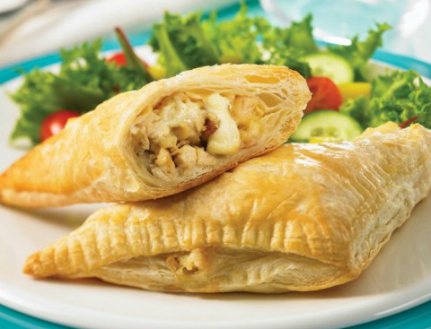 Chicken, Brie and Apple Turnovers