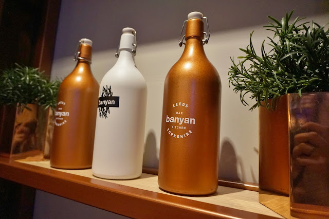 Banyan branded bottles on shelf