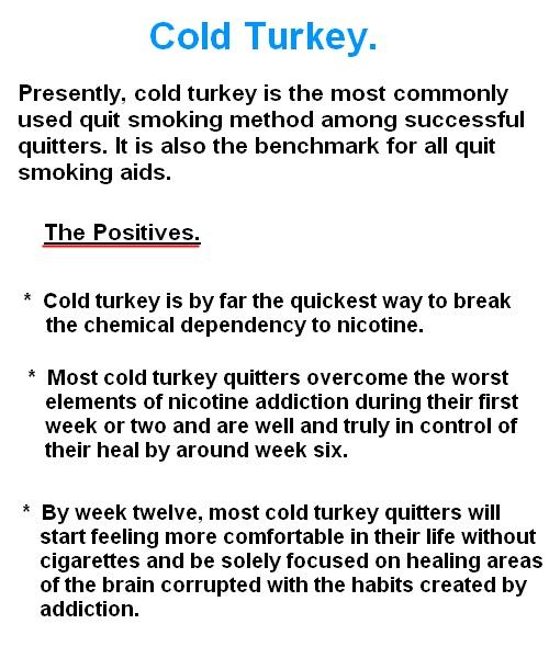 Quit smoking - Cold turkey
