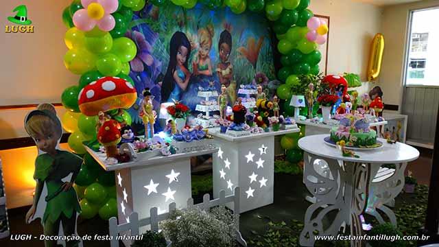 Mesa decorativa tinker Bell provençal para festa de aniversário infantil - Barra da Tijuca - Rio de Janeiro (RJ)