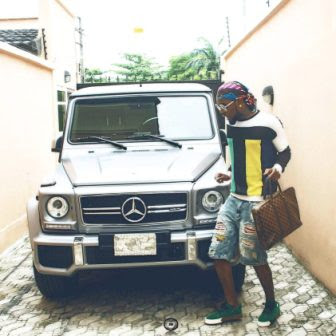 patoranking poses with his new g-wagon classic