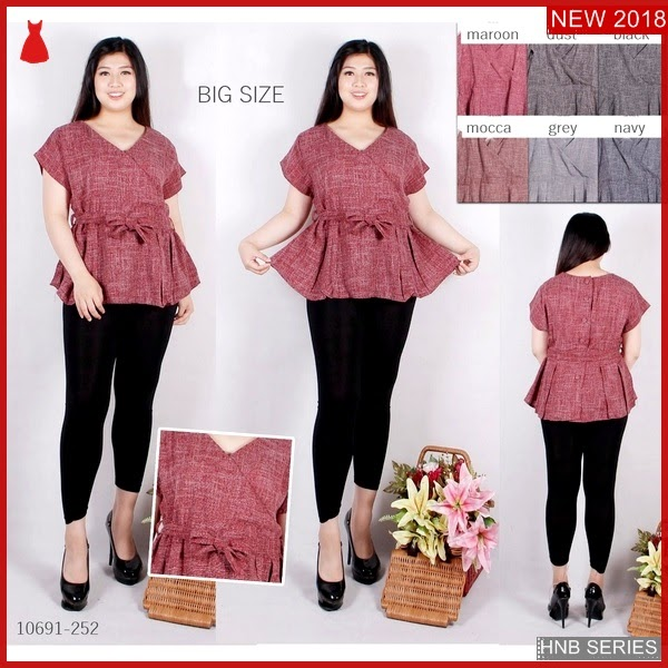 HNB262 Model Dress Batik Ukuran Besar Jumbo Modis BMG Shop