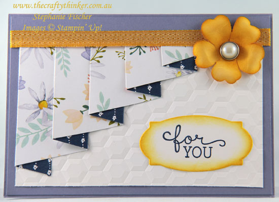 #thecraftythinker, #fancyfold, #stampinup, #cardmaking, pleated card, Pansy Punch, Stampin' Up! Australia Demonstrator, Stephanie Fischer, Sydney NSW