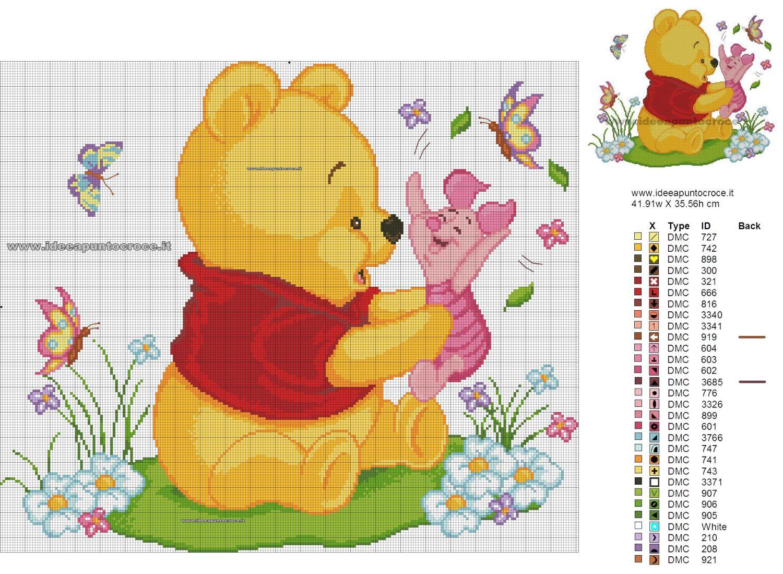 Schemi disney a punto croce schema winnie the pooh punto for Winnie the pooh punto croce