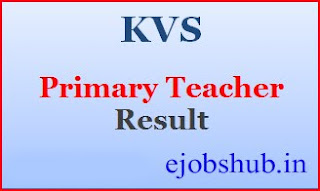 KVS Primary Teacher Result