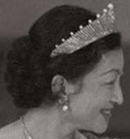 Pearl Sunburst Tiara Empress Michiko of Japan