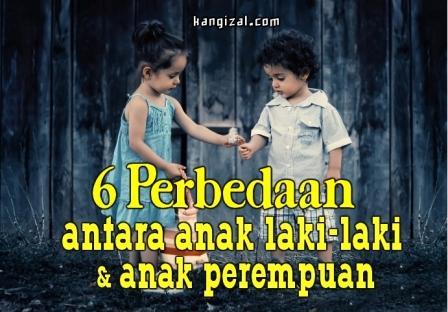 6 Perbedaan antara anak laki-laki dan perempuan - kangizal.com
