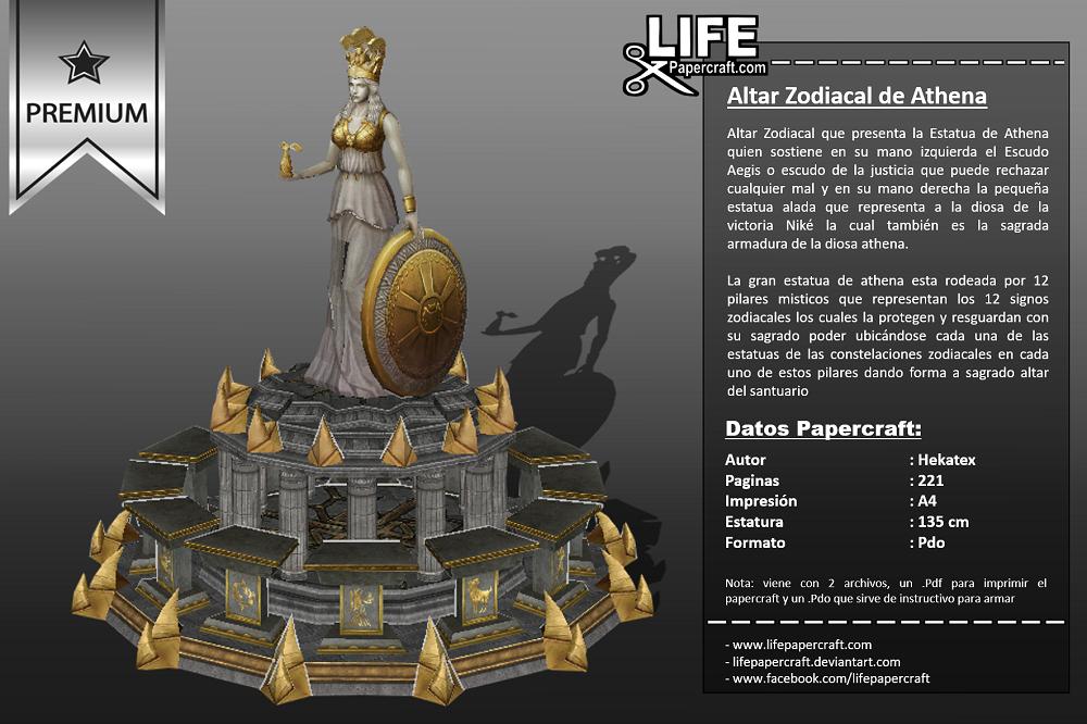 Altar Zodiacal de Athena ~ USD $12
