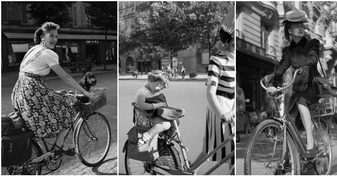 Cycling on the Streets of Paris Under Nazi Occupation in 1942