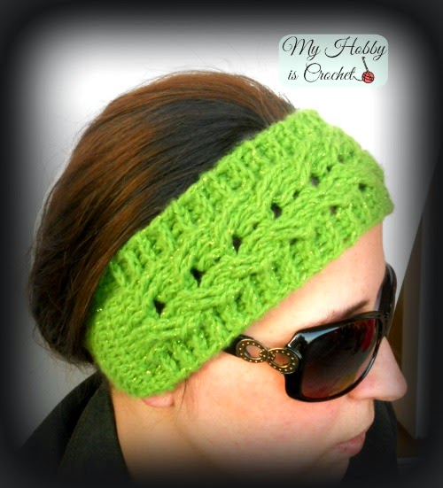 Crochet Cable Headband  Easy fit - Free crochet Pattern with Tutorial on myhobbyiscrochet.com