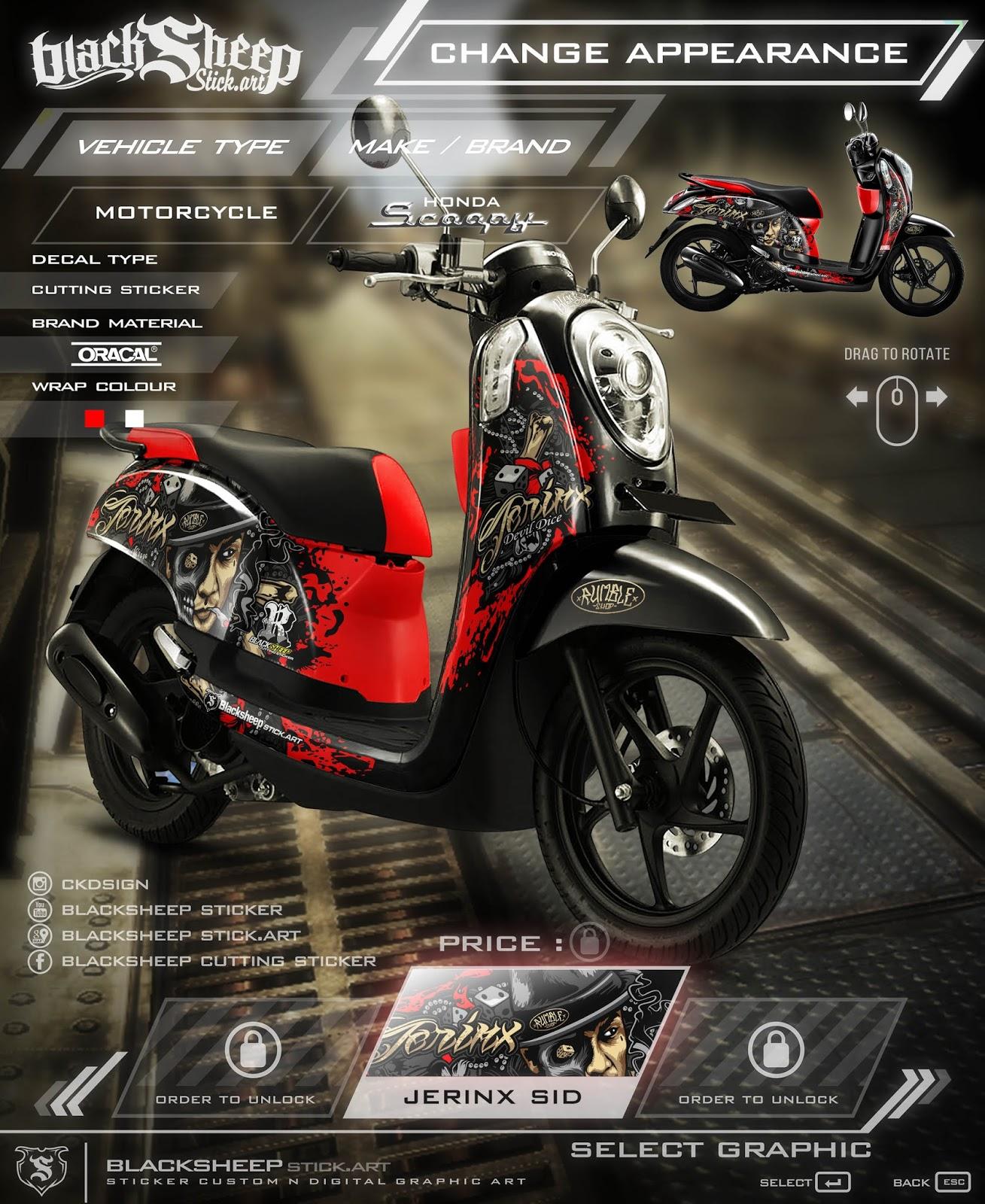 Download Kumpulan 80 Modif Scoopy Graffiti Terkeren Kucur Motor