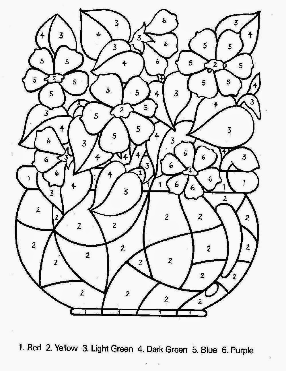 free printable color by number pages for adults - color by number sheets free coloring sheet