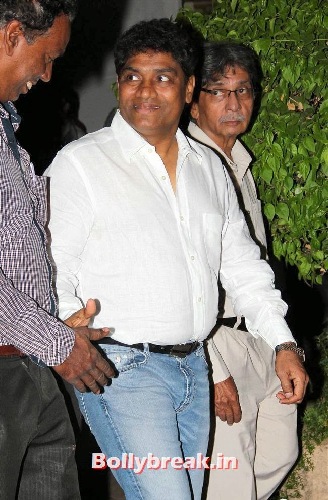 Johny Lever, Celebs at Farooq Sheikh Prayer Meet