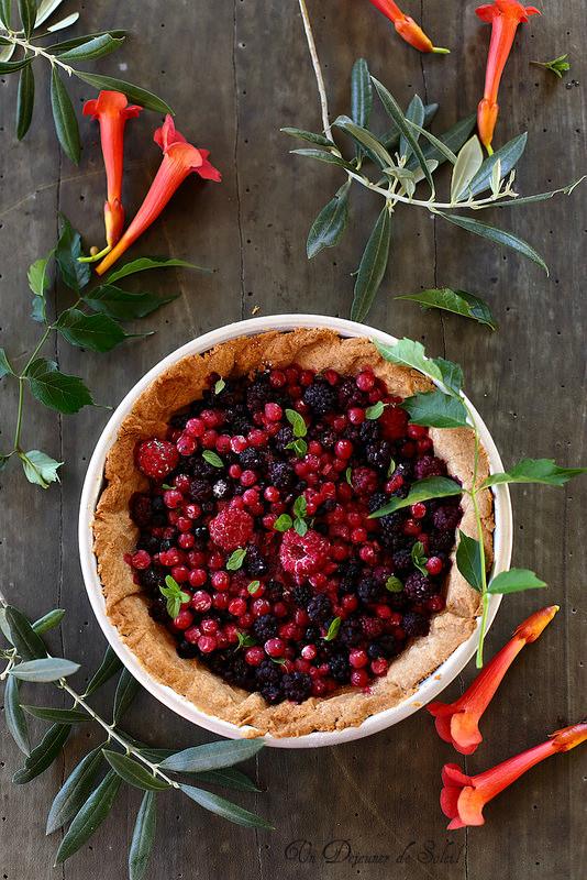 Tarte aux fruits rouges et à la farine d'épeautre