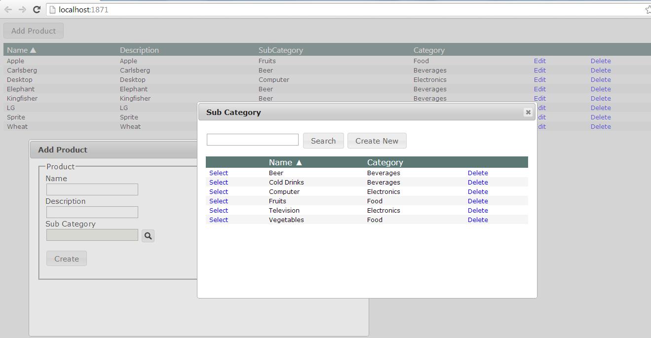 Rohit Kesharwani: CRUD & Multiple JQuery dialogs in Asp Net MVC