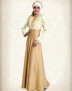 Model baju muslim brokat modern yang anggun