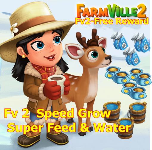 Farmville 2 Free Speed Grow and Super Feed & Water - Fv2-Free-Reward