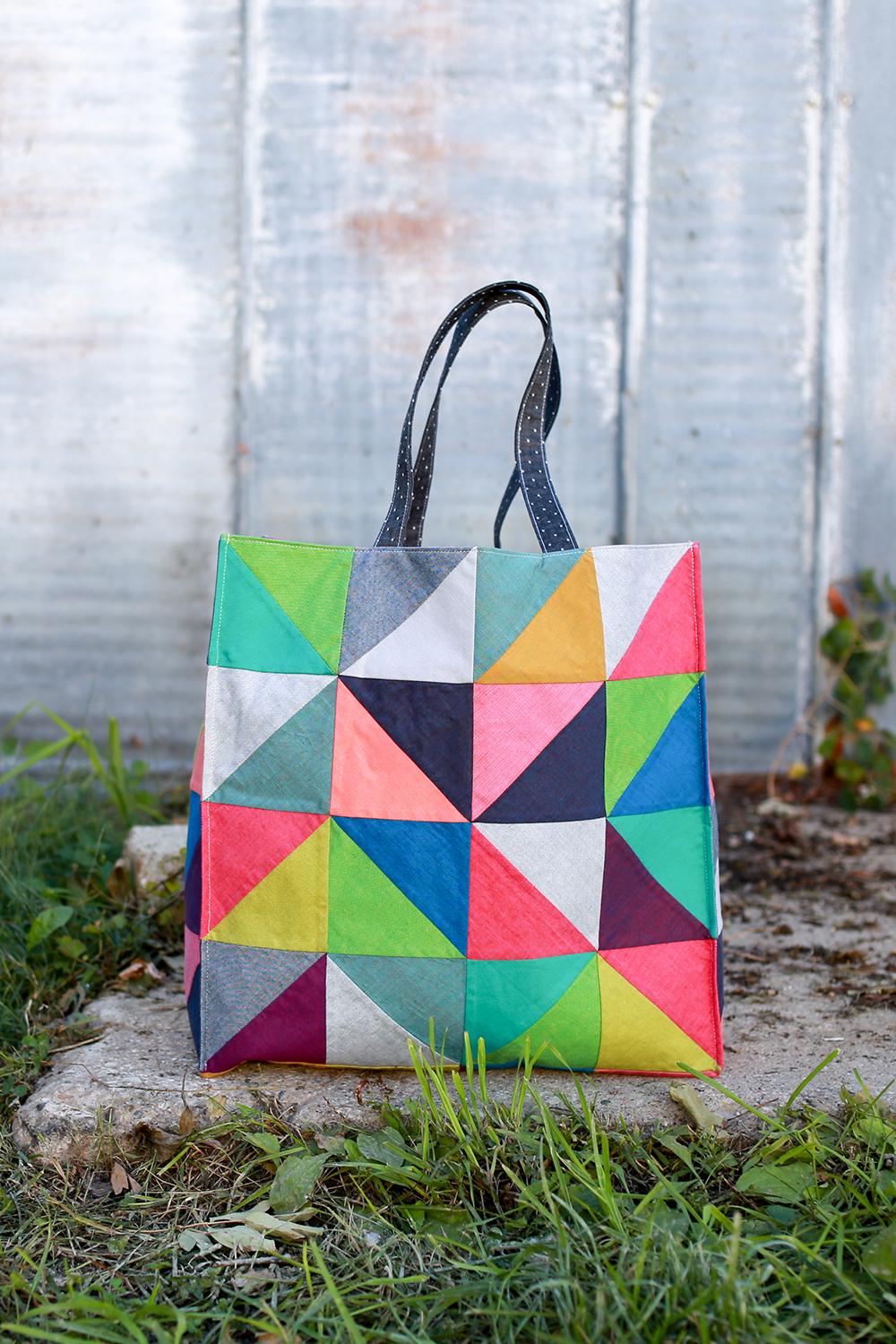in color order: new pattern: the workshop tote