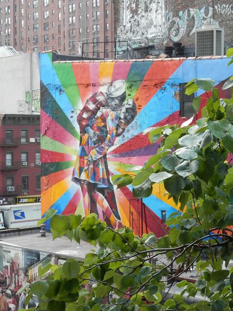 Promenade sur la High Line à New York