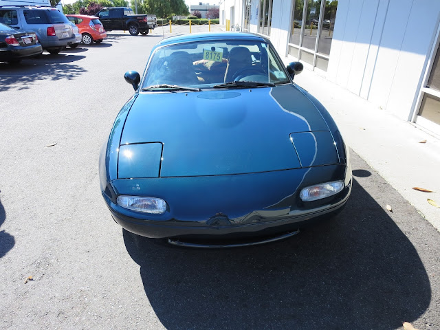 Miata with new paint from Almost Everything Auto Body