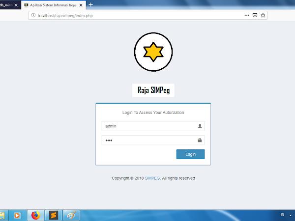 Raja SIMPeg - Sistem Informasi Kepegawaian Berbasis Web Versi 1.3