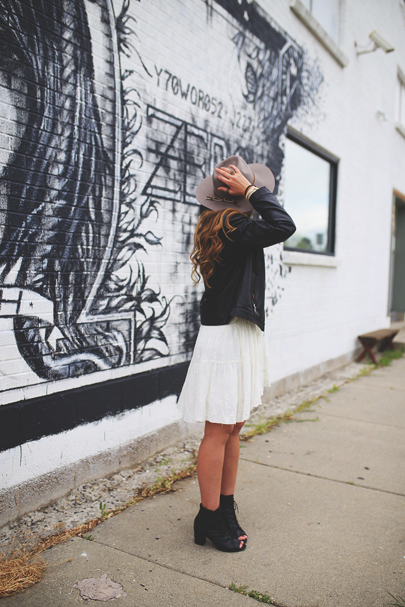 wide brim hat, fedora, free people. booties