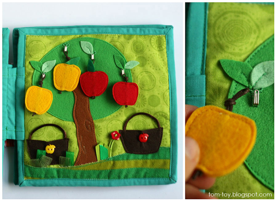 Quiet book for Monroe, handmade, busy book, travel toy, unique gift, apple tree, развивающая книжка