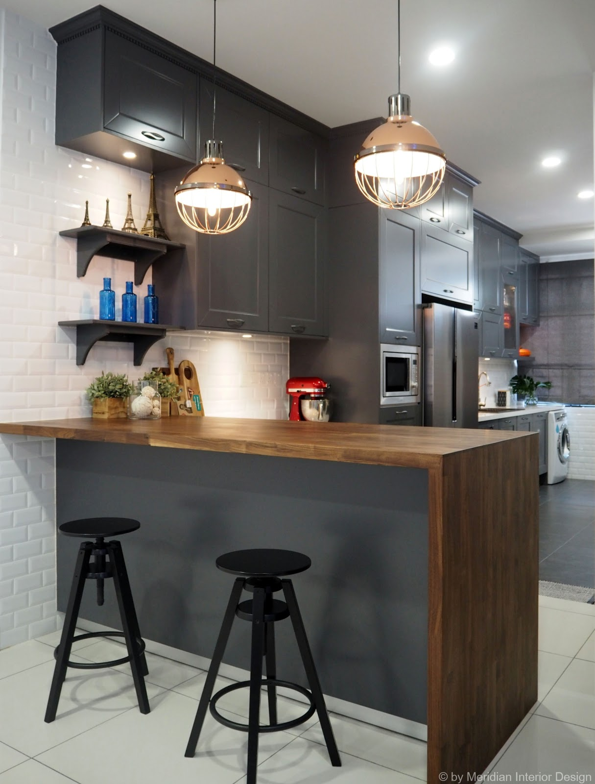 industrial kitchen design meridian interior design and kitchen design in kuala 1838