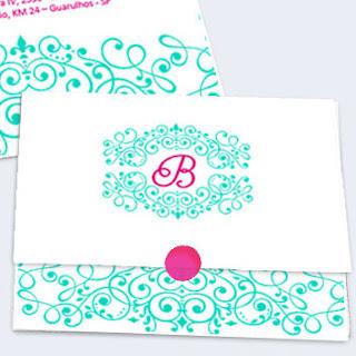 Convite de quinze anos para editar tiffany e pink