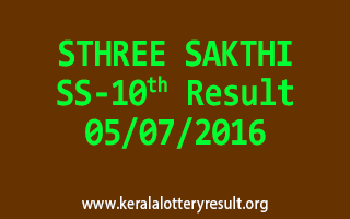 STHREE SAKTHI Lottery SS 10 Results 5-7-2016