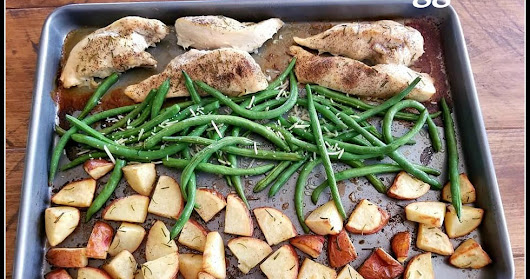One Pan Chicken and Veggies for Any Night of the Week #Recipe