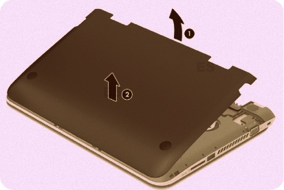 how to remove hard drive from hp notebook