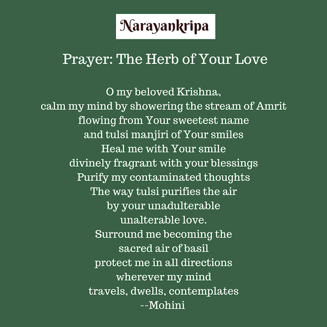 Text Image for Narayankripa Prayer: The Herb of Your Love