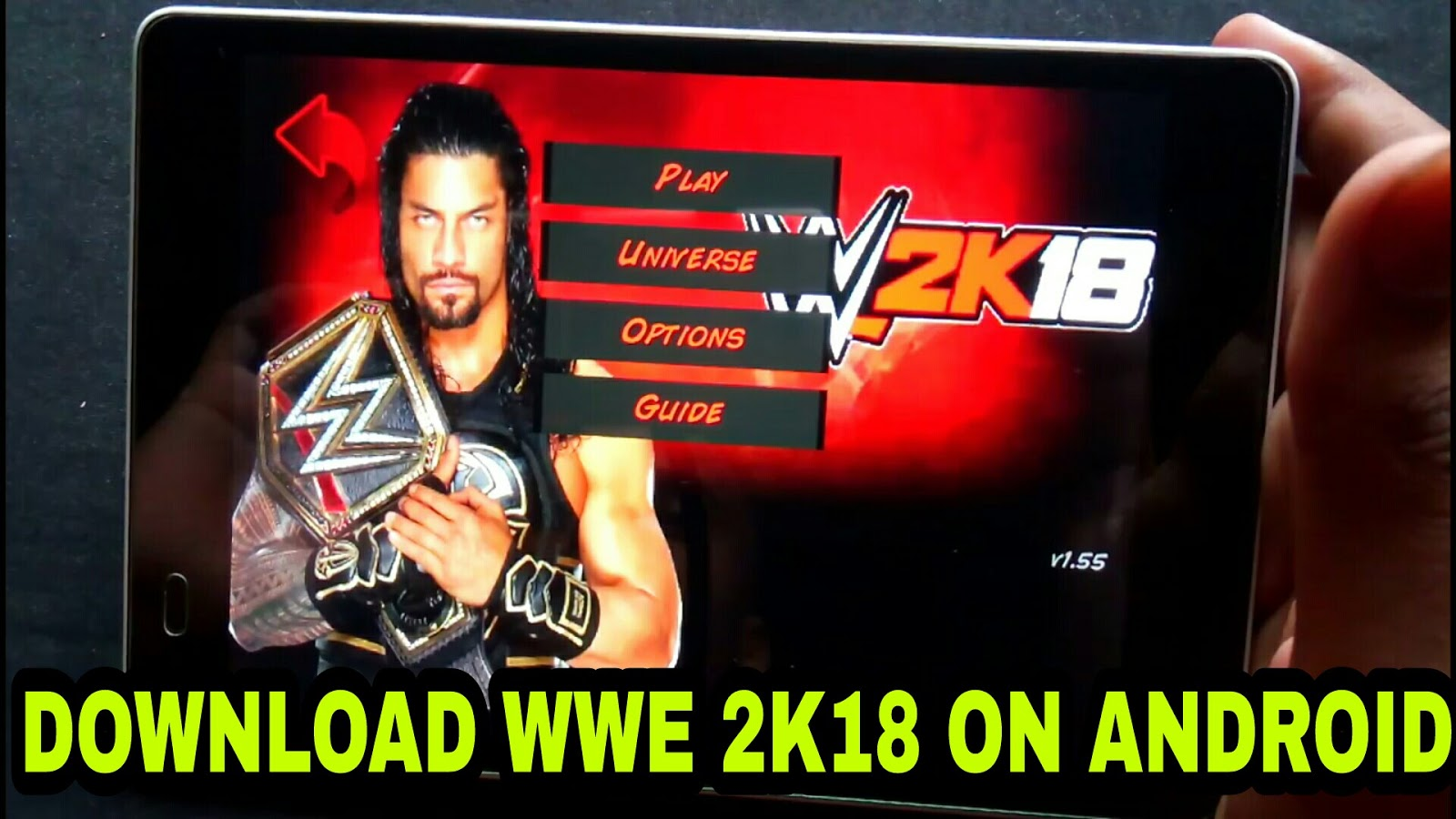 Download Wwe 2k18 On Android High Graphics Just In 50mb Ocean Of Hacks
