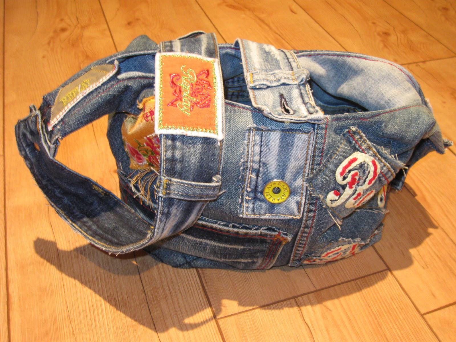 rannas welt aus alter jeans wird tasche. Black Bedroom Furniture Sets. Home Design Ideas