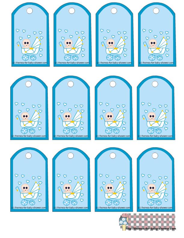 Etiquetas para Imprimir Gratis de Bebé en Cochecito.