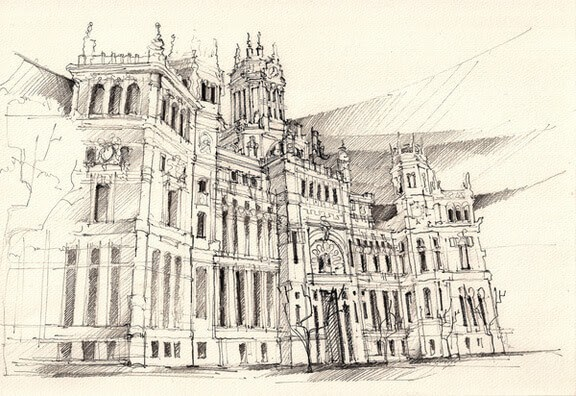 13-Detailed-Stone-Building-Adelina-Popescu-Architecture-Drawings-and-Interior-Design-www-designstack-co