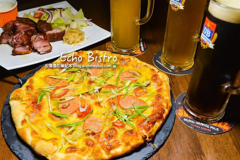 Echo Bistro-永和pizza餐酒館和朋友一起喝生啤酒吃披薩