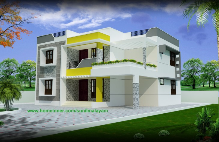 1750 sq ft Small Beautiful Home Design